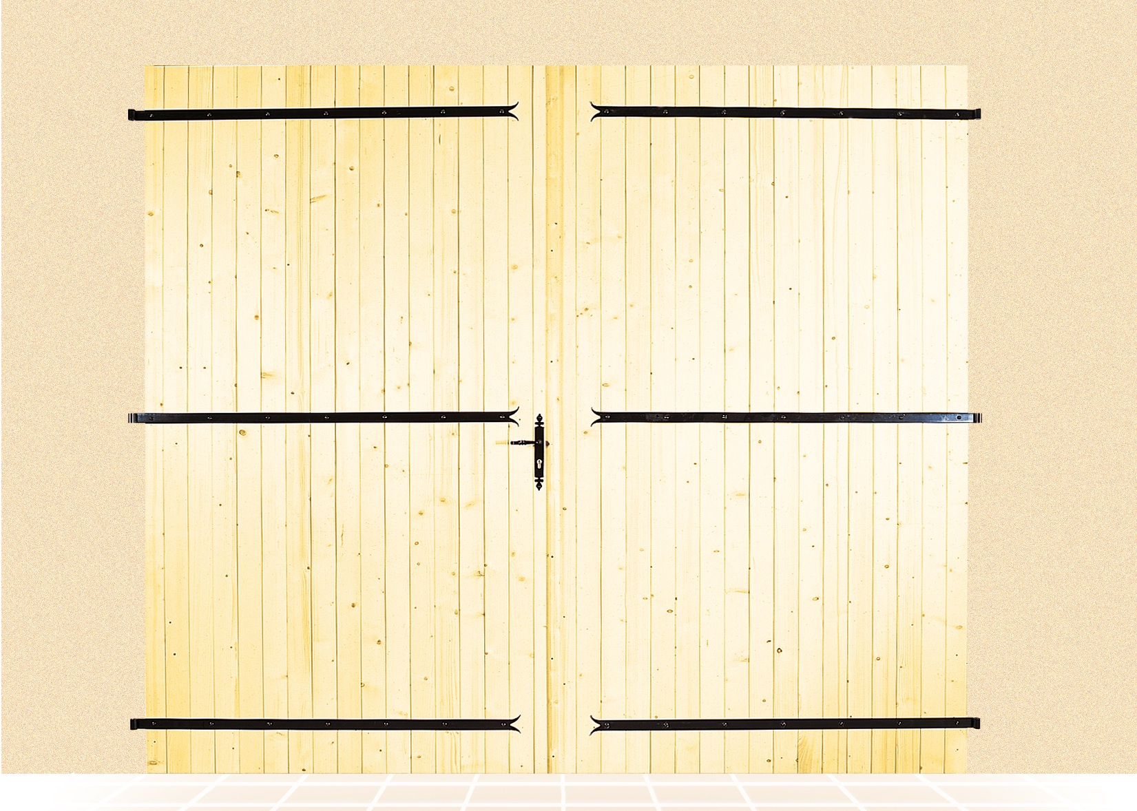 Portes de garage battantes hauteur largeur for Largeur porte garage standard