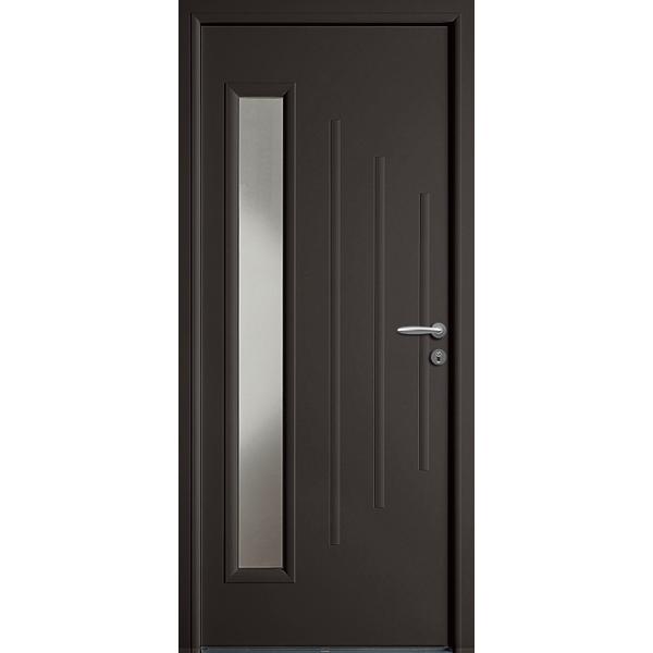 Portes d 39 entr e aluminium hauteur largeur for Largeur standard porte d entree
