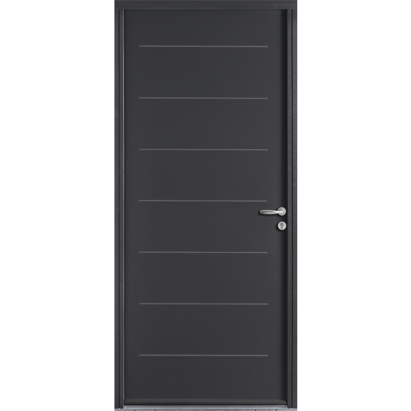 portes d 39 entr e acier hauteur largeur. Black Bedroom Furniture Sets. Home Design Ideas