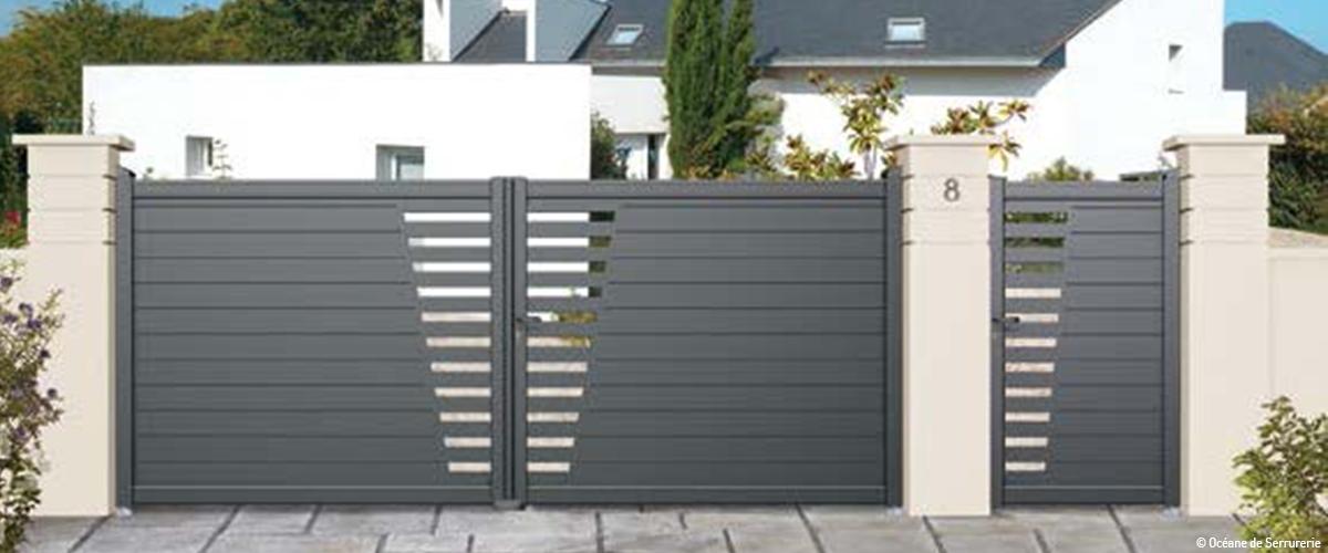 portail et cl ture bien connaitre la r glementation et bien choisir hauteur largeur. Black Bedroom Furniture Sets. Home Design Ideas