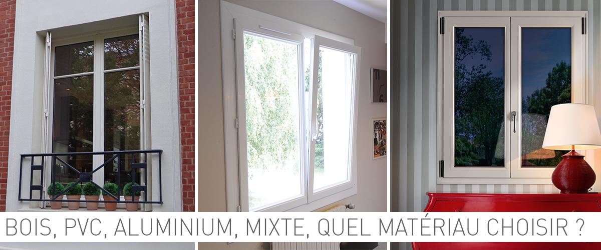 Hauteur Largeur à Nantes vous explique les différents matériaux pour vos fenêtres