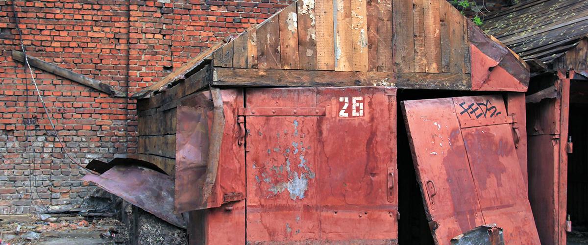 porte de garage rust