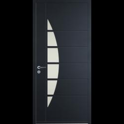 Portes d 39 entr e aluminium hauteur largeur for Largeur porte d entree standard