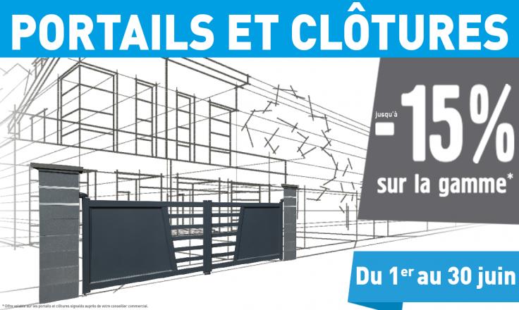Portail et clôture, offre u mois chez Hauteur Largeur - Distributeur de menuiseries intérieures et extérieures - aux portes de Nantes (Loire-Atlantique)