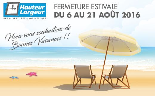 Ce sont les vacances chez Hauteur Largeur, distributeur de menuiserie extérieures et intérieures aux portes de Nantes