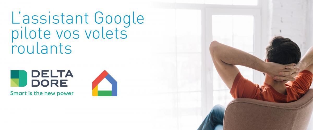Avec Google Home et Delta Dore pilotez votre maison avec votre voix.