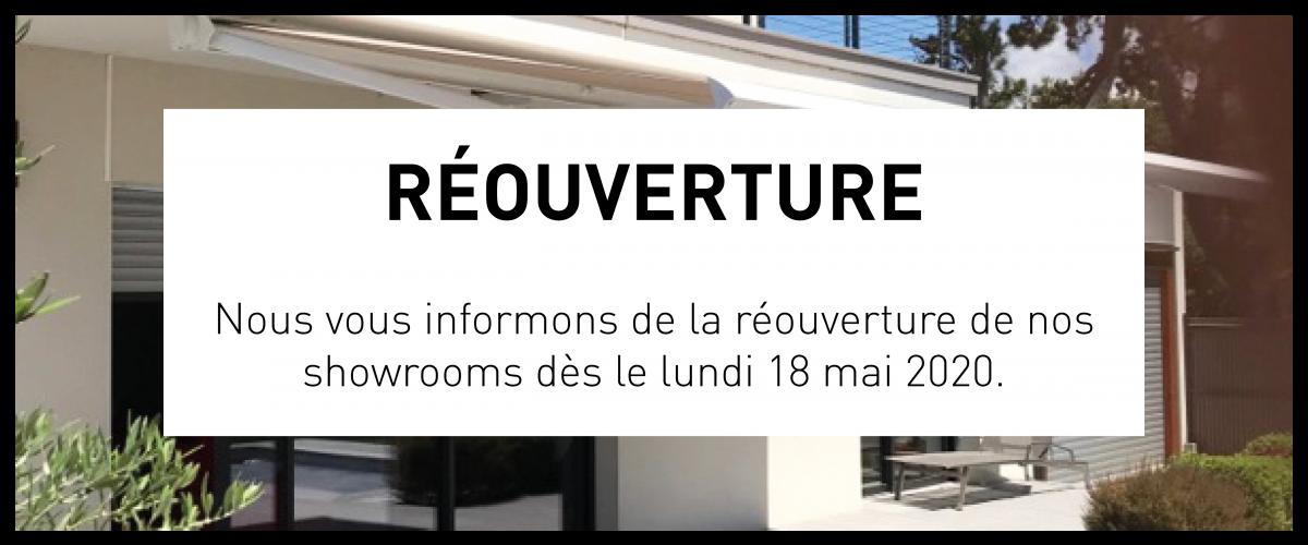 COVID 19 - Réouverture de nos showrooms à partir du 18 mai 2020